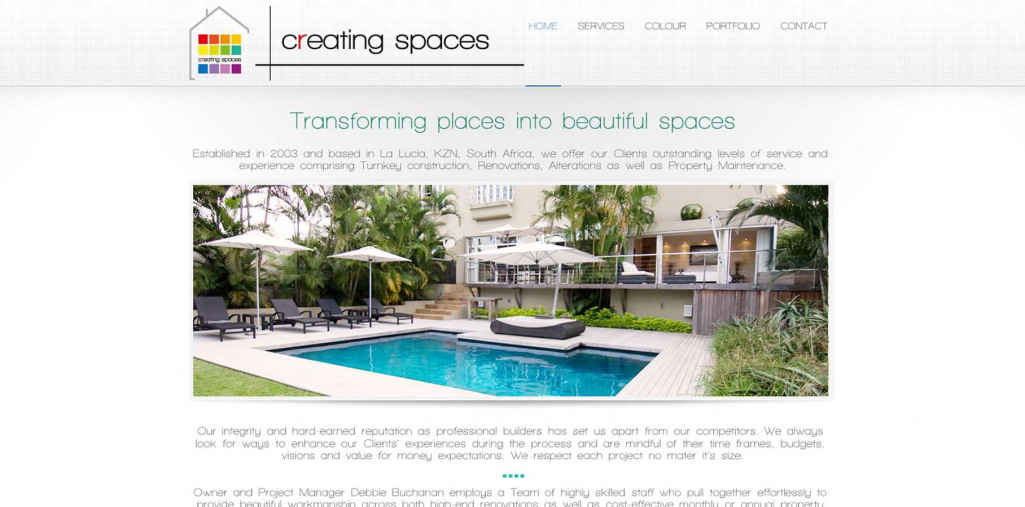 Creating Spcaes Website Home