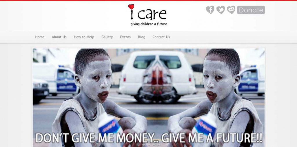 I Care Website Home Page