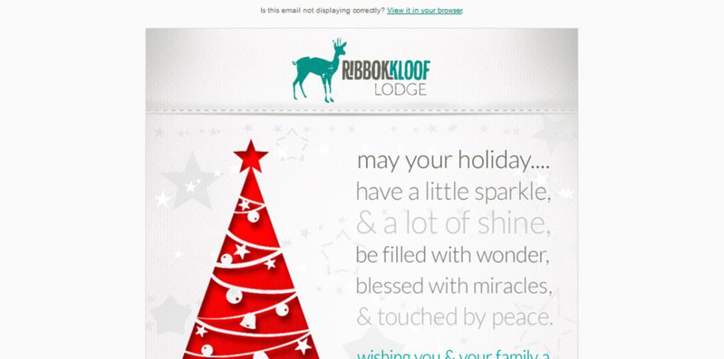 Ribbokkloof Christmas e-Newsletter