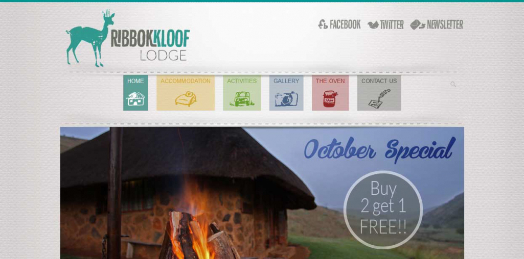Ribbokkloof Website Home Page